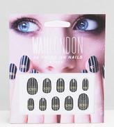 WAH London & ASOS Press On Nails - Bossy Pinstripe