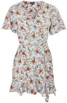 Topshop PETITE Confetti Ditsy Print Tea Dress