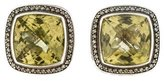 David Yurman Albion Prasiolite and Diamond Earrings