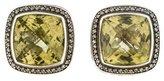David Yurman Albion Prasiolite and Diamond Earrings