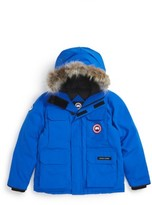 Canada Goose Boy's 'Pbi Expedition' Waterproof Down Parka With Genuine Coyote Fur Trim