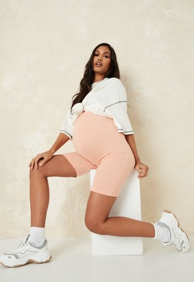 Missguided Peach Maternity Cycling Shorts