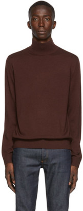 A.P.C. Burgundy Glen Turtleneck