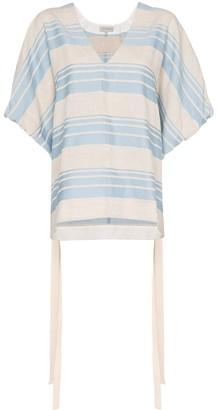 Lee Mathews Tilda striped poncho top