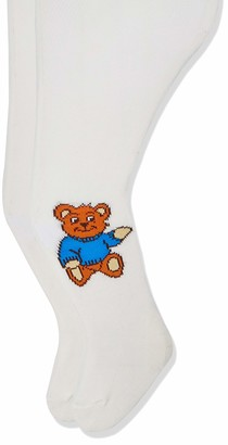 Playshoes Baby Girls' Teddybar und Unifarben mit Komfortbund Tights