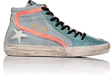 Golden Goose Women's Slide Sneakers - Lt. Green