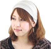 Casualbox mens Head cover Band Bandana Stretch Hair Style Japanese Black L