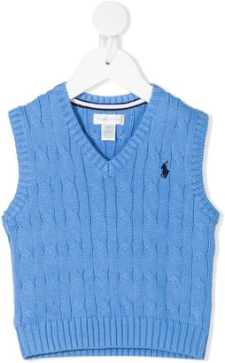 Ralph Lauren Kids Cable Knit Vest