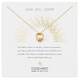 Dogeared Love You Sister Pendant Necklace, 16