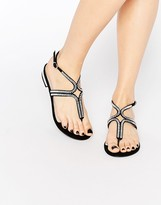 Carvela Bonnie Embeliished Flat Sandals