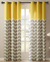 "Intelligent Design Alex 42"" x 84"" Colorblocked Chevron-Print Pair of Room Darkening Grommet Window Panels"
