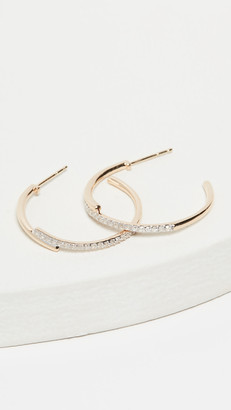 Adina 14k Medium Crossover Hoop Earrings