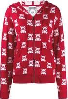 Moschino Jacquard Teddy Bear Zipped Hoodie