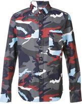 Moncler camouflage print shirt