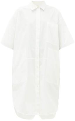 Lee Mathews Workroom Patch-pocket Cotton-poplin Shirt Dress - Womens - White