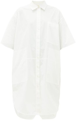 Lee Mathews - Workroom Patch Pocket Cotton Poplin Shirtdress - Womens - White