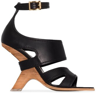 Alexander McQueen No.13 105 wedge leather sandals