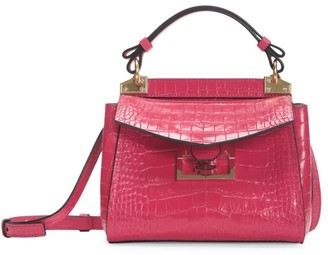 Givenchy Mini Mystic Croc-Embossed Leather Top Handle Bag