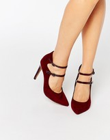 London Rebel Strappy Point Heeled Shoes