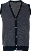 Zanone sleeveless cardigan - men - Cotton - 52