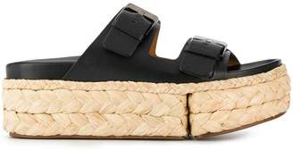Clergerie buckled strap platform sandals