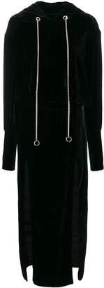 Almaz Open Back Hoodie Dress