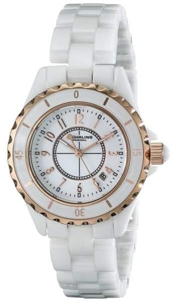 Stuhrling Original 530.114EW3 White Ceramic 34mm Watch