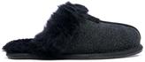 UGG Women's Scuffette II Serein Shimmer Suede Slippers Black