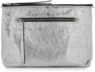 Isabel Marant Nessah Silver Leather Cross-body Bag