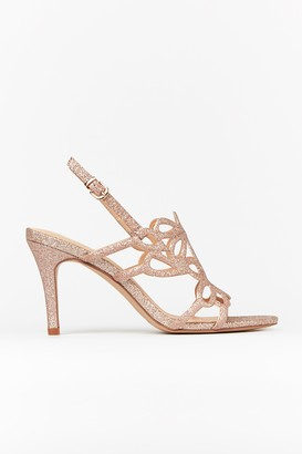 Wallis Pink Glitter Cage Front Heels