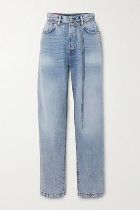 Acne Studios Organic High-rise Straight-leg Jeans - Mid denim