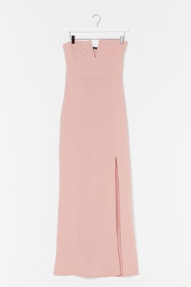 Nasty Gal Womens What's It Gonna V Slit Maxi Dress - Blush