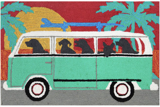 "Liora Manné Frontporch Beach Trip Turquoise, 30""x20""x0.38"""