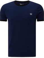 Fred Perry Ringer Crew Neck T-Shirt, French Navy