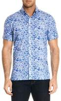 Robert Graham Printed Short-Sleeve Button-Down Shirt