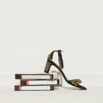 Sandro Heeled sandals with colored studs