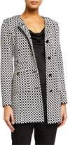 St. John Checker Knit Wool-Blend Jacket