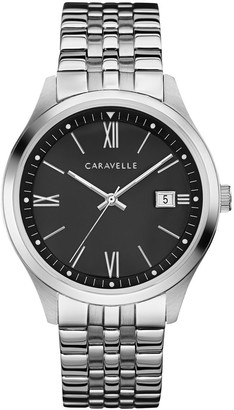 Caravelle by Bulova Men's Stainless Black Dial Watch