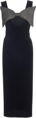 Christopher Kane Bow-Accented Velvet Midi Dress