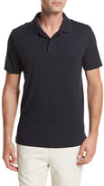 Vince Dot-Print Pima Cotton Polo Shirt, Navy