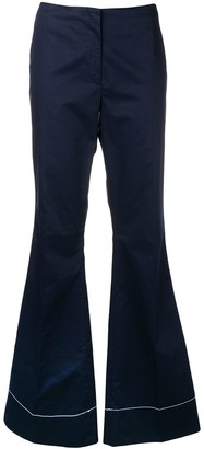 By Malene Birger stitch detail flared trousers