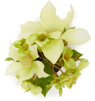Philippa Craddock - Faux-flower Brooch - Green