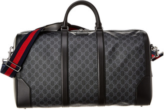 Gucci Gg Supreme Canvas & Leather Carry-On Duffel Bag
