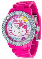 Hello Kitty Girl's Watch Uto Red Dial Analogue Display and Pink Plastic Strap 9904–22