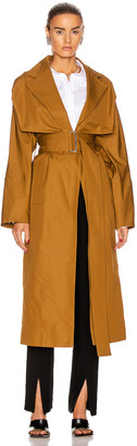 Victoria Beckham Lightweight Trench Coat in Deep Mustard | FWRD
