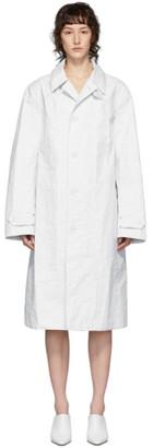 Helmut Lang White Rain Mac Coat