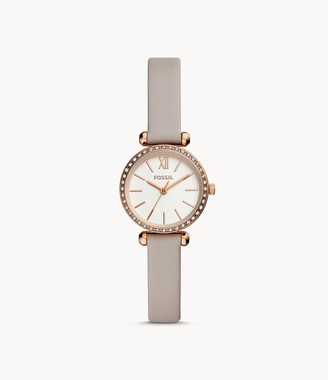 Fossil Tillie Mini Three-Hand Gray Leather Watch jewelry