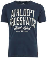 Crosshatch Men's Truman T-Shirt - Mood Indigo Marl