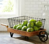 Pottery Barn Vintage Blacksmith Wheelbarrow Storage Basket
