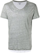 Majestic Filatures layered T-shirt - men - Cotton/Linen/Flax - L